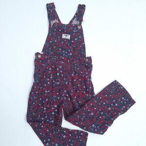 Vintage Oshkosh B'Gosh • floral corduroy overalls